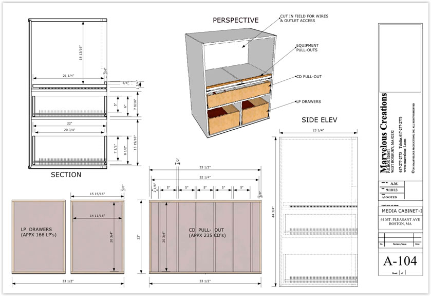 Cabinet / Millwork Shop Drawings